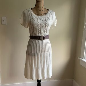 Jessica Simpson white sweater knit dress size L